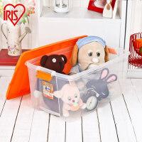 爱丽思IRIS 56L日本大号衣服透明收纳盒塑料衣物收纳整理储物箱有盖 TB-64D