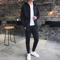 卫衣套装男士套装秋季新款韩版潮流运动连帽帅气三件套休闲外套VZTZ9009-04
