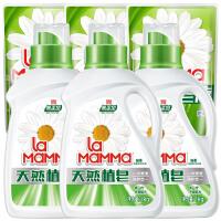 妈妈壹选天然皂液1kgx3+袋装补充装100gx3