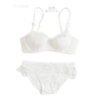 20180513034115824夏季日系蕾丝文胸套装女士内衣半透明性感小胸聚拢胸罩棉质