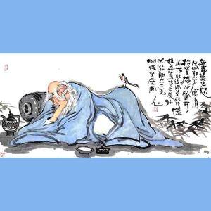 国内文与画俱佳的艺术家中国北方书画研究会常务理事国家一级美术师刘子玉(无事莫让愁住心)