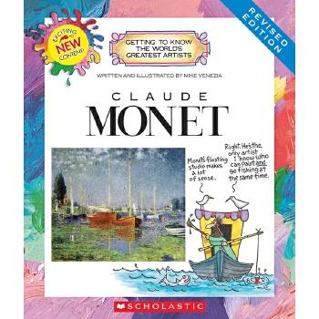 【中商原版】学乐我需要知道的伟大艺术家系列 莫奈 英文原版 Claude Monet 画家知识科普 法国印象派画家 印象派领导者