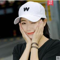 棒球帽女韩版学生百搭潮流遮阳新款帽子字母刺绣鸭舌帽