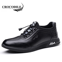 鳄鱼恤休闲鞋懒人套脚潮鞋低帮板鞋真皮舒适男鞋