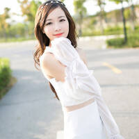 20191225071811730夏季雪纺蕾丝素色防晒袖套手套 简约长款遮阳防紫外线 颜色随机