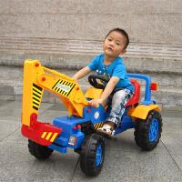 儿童挖掘机可坐可骑电动挖土机玩具男孩勾机推土机2-7岁挖挖