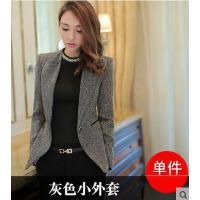 外套职业装 上衣工作服上衣 修身大码小西装 女外套韩版修身显瘦职业装长袖女式小西服上衣