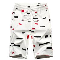 纯棉水洗短裤 印花5五分7七分裤沙滩裤休闲裤男大码