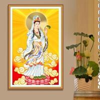 印花3D十字绣8新款客厅观音送子系列画佛像女菩萨线绣简单刺绣