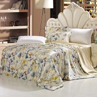 真丝四件套100桑蚕丝床上用品婚庆丝绸真丝被套床单床品套件