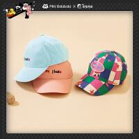 迷你巴拉巴拉儿童帽子简约棒球帽2020新品