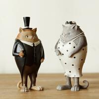 玄关客厅家具柜子美式猫咪北欧新房礼品乔迁新居装饰摆件家居饰品