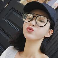 防蓝光辐射眼镜男女韩版潮无度数平面镜大框网红13c同款透明眼睛