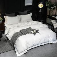 商场同款简约五星酒店四件套全棉棉100支北欧风色1.8m床上用品2.0m