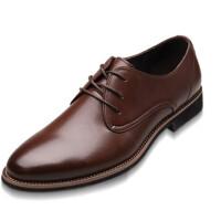 男士皮鞋商务休闲男鞋 秋季英伦系带牛皮鞋