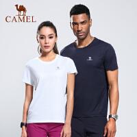 CAMEL骆驼户外速干T恤男女春夏健身跑步运动短袖透气速干衣情侣款