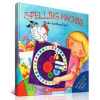 现货大开本 英文拼写趣味转转书 英文原版 Spelling Machine 学乐英文单词拼读游戏书