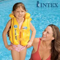 INTEX泳校游泳背心58660 救生衣 儿童救身衣 充气背心 3-6岁