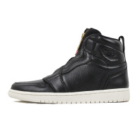 NIKE/耐克 Air Jordan1 AJ1黑蓝高邦拉链女鞋运动篮球鞋AQ3742-016