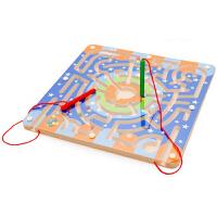 磁力迷�m磁性迷�m玩具�\�P走珠迷�m�e木�和�早教益智力玩具