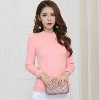 针织衫 女士半高领加绒加厚长袖毛衣2020年冬季新款韩版时尚潮流女式修身洋气女装打底衫