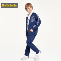 巴拉巴拉童装男童套装两件套秋装2019新款儿童衣服运动上衣简约潮