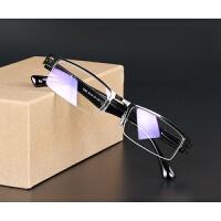 防蓝光眼镜辐射电脑镜男女商务金属框架抗疲劳超轻树脂半框平光镜