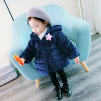 女宝宝棉衣装婴儿童装女童加厚棉袄小童金丝绒外套1-2-3岁4
