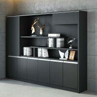 办公家具老板办公室木质文件柜现代板式资料书柜组合档案背景柜 400mm
