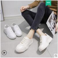 小白鞋春季新款百搭老爹写韩版山本风运动鞋休闲网红女鞋子潮