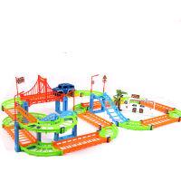 轨道车小火车玩具套装立体轨道车儿童汽车玩具男女孩生日礼物