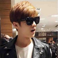 2018082946073462018年新款李易峰鹿晗同款太阳眼镜韩版男女通用大框圆脸欧美潮流个性墨镜