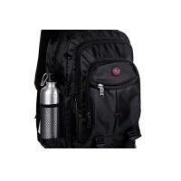 男士双肩包韩版潮女中高学生书包时尚运动电脑背包登山旅游包世帆家SN7255 黑色 纯黑色