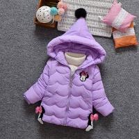 女童棉衣外套新款儿童羽绒棉加厚保暖女宝宝棉袄 100码 建议身高85-95CM