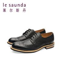 【顺丰包邮,大牌价:351】莱尔斯丹 新款商务休闲系带男鞋男士皮鞋9MM87401