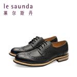 莱尔斯丹 新款商务休闲系带男鞋男士皮鞋9MM87401