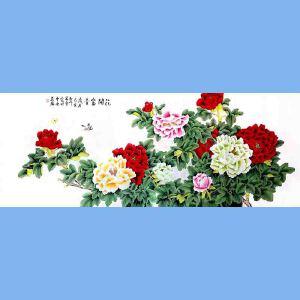 北京著名工笔画画家,北京市美协会员凌雪(花开富贵)12