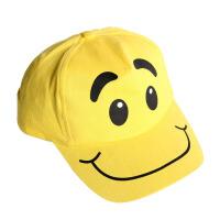 大贸商 黄色笑脸棒球帽 儿童鸭舌帽 太阳帽子 遮阳 JB00031