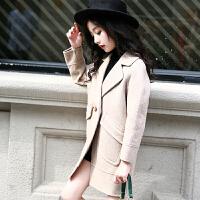 加绒女童呢子大衣2017新款韩版加厚公主中长款洋气中大童毛呢外套