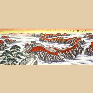 黄保园1.8米《长城雄姿》实力派女画家,毕业于南宁艺术学院国画系2-8W1126