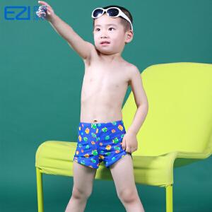 弈姿 EZI儿童游泳衣 男童印花平角泳裤 15052 送泳帽
