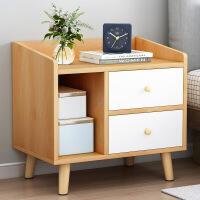 【一件3折】现代床头柜置物架简易卧室床边小柜子经济型小型收纳柜小桌子
