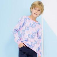 加菲猫男童针织衫双面提花圆领套衫GGM17407