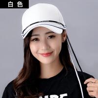 帽子女韩版夏天纯色电线棒球帽潮男时尚休闲百搭出游鸭舌帽情侣遮阳帽