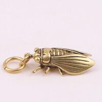 铜钥匙扣小蝉知了创意女匠心创意小鸟配件挂件汽车知了猴