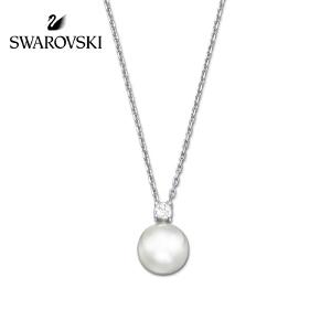 SWAROVSKI/施华洛世奇 Tricia 优雅精致 仿水晶珍珠链坠 白色5032907