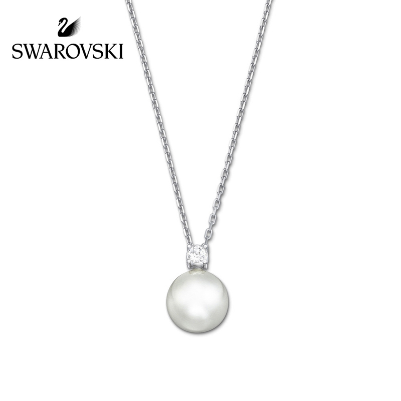 SWAROVSKI/施华洛世奇 Tricia 优雅精致 仿水晶珍珠链坠 白色5032907正品保障(可使用礼品卡)