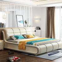 1.2米榻榻米床床皮床�F代��s�p人�床床1.8米1.5米�ξ锘榇泊蟠仓髋P床 +乳�z加棉床�|
