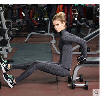 速干透气薄款瑜伽裤训练长裤跑步压缩裤 运动紧身裤女健身裤弹力