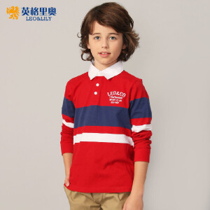 男童秋装纯棉长袖t恤2018新款儿童中大童9-11-13-15岁条纹体恤衫